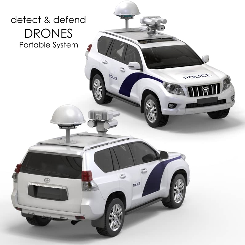 PORTABLE/VEHICLE MOUNTED ANTI DRONE